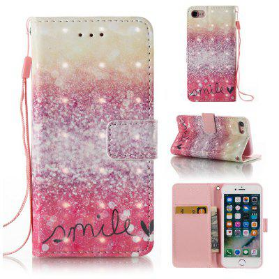 Buy GOLD AND PINK 3D Painted Pu Phone Case for Iphone 8 / 7 for $4.83 in GearBest store