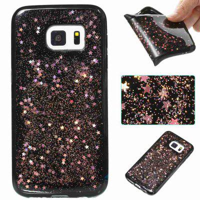 Black Five-Pointed Star Painted Dijiao Tpu Phone Case for Samsung Galaxy S7