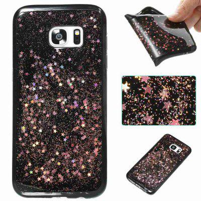 Black Five-Pointed Star Painted Dijiao Tpu Phone Case for Samsung Galaxy S7 Edge