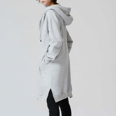 Toyouth Sweatshirts 2017 Autumn Women Loose Solid Color Casual Long Hoodies Zipper Outerwear CoatSweatshirts &amp; Hoodies<br>Toyouth Sweatshirts 2017 Autumn Women Loose Solid Color Casual Long Hoodies Zipper Outerwear Coat<br><br>Closure Type: Zipper<br>Collar: Hooded<br>Detachable Part: None<br>Elasticity: Nonelastic<br>Fabric Type: Cotton<br>Hooded: Yes<br>Material: Cotton<br>Package Contents: 1 x Hoodie<br>Pattern Style: Solid<br>Shirt Length: Regular<br>Sleeve Length: Full<br>Sleeve Style: Regular<br>Style: Fashion<br>Thickness: Standard<br>Weight: 0.4500kg