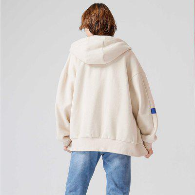 Toyouth Sweatshirt 2017 Winter Women All Match Loose Contrast Color Zip-Up Overcoat Hoodies FemaleSweatshirts &amp; Hoodies<br>Toyouth Sweatshirt 2017 Winter Women All Match Loose Contrast Color Zip-Up Overcoat Hoodies Female<br><br>Closure Type: Zipper<br>Collar: Hooded<br>Detachable Part: None<br>Elasticity: Micro-elastic<br>Fabric Type: Cotton<br>Hooded: Yes<br>Material: Cotton Blend<br>Package Contents: 1 x Hoodie<br>Pattern Style: Letter<br>Shirt Length: Regular<br>Sleeve Length: Full<br>Sleeve Style: Regular<br>Style: Active<br>Thickness: Thick<br>Weight: 0.4800kg