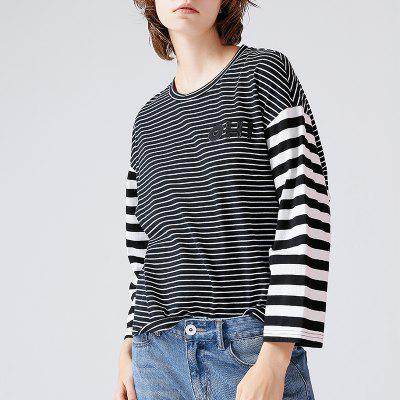 Toyouth T-Shirt 2017 Autumn Women Fashion Striped Patchwork Three Quarter Sleeve Cotton Loose Tee TopsTees<br>Toyouth T-Shirt 2017 Autumn Women Fashion Striped Patchwork Three Quarter Sleeve Cotton Loose Tee Tops<br><br>Collar: Round Neck<br>Elasticity: Micro-elastic<br>Embellishment: Spliced<br>Fabric Type: Twill<br>Material: Cotton<br>Package Contents: 1 x T-Shirt<br>Pattern Type: Striped<br>Shirt Length: Regular<br>Sleeve Length: Three Quarter<br>Style: Casual<br>Weight: 0.3500kg