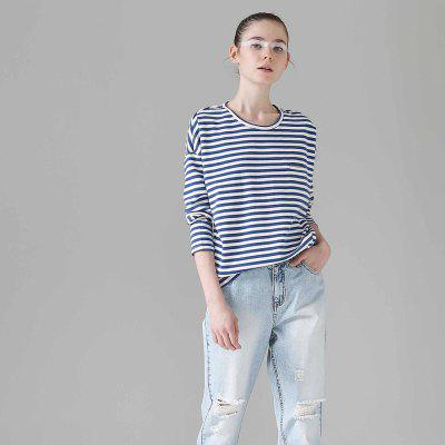 Toyouth Women T-Shirts Batwing Long Sleeve Striped Pattern O-Neck Casual T Shirt Female Tees Cotton Elegant Ladies Tees TopsTees<br>Toyouth Women T-Shirts Batwing Long Sleeve Striped Pattern O-Neck Casual T Shirt Female Tees Cotton Elegant Ladies Tees Tops<br><br>Collar: Round Neck<br>Elasticity: Micro-elastic<br>Embellishment: Pockets<br>Fabric Type: Twill<br>Material: Cotton Blends<br>Package Contents: 1 x T-Shirt<br>Pattern Type: Striped<br>Shirt Length: Regular<br>Sleeve Length: Full<br>Sleeve Type: Batwing Sleeve<br>Style: Casual<br>Weight: 0.3200kg