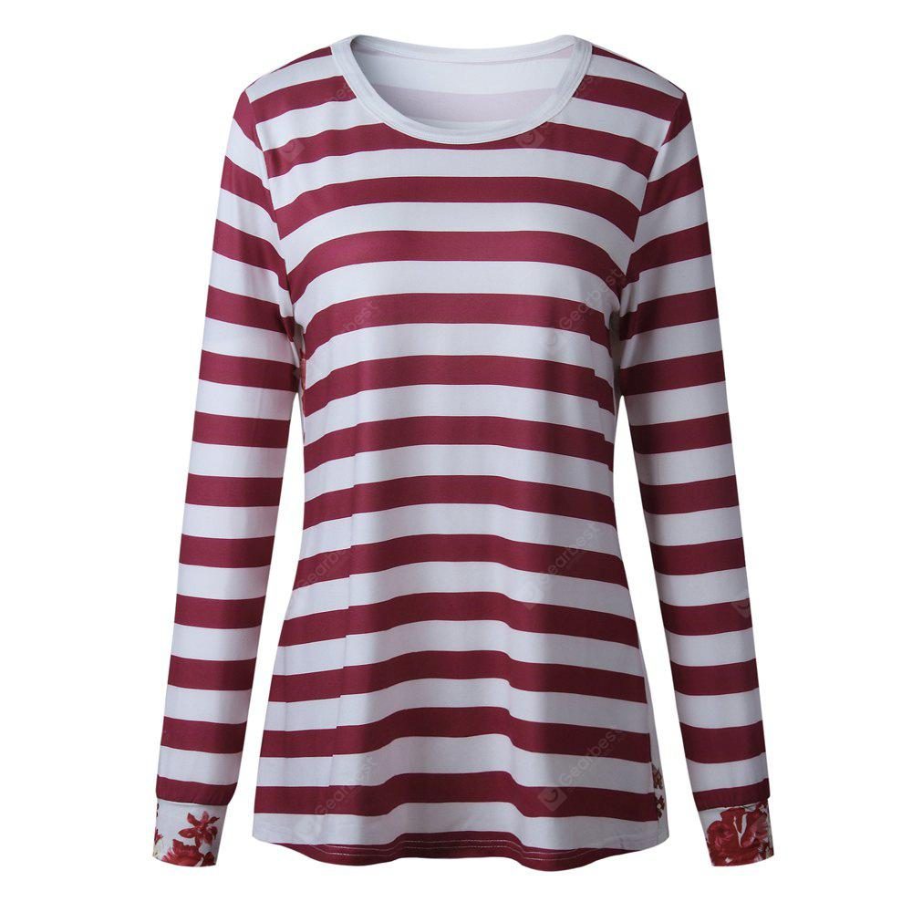 2017 Autumn Stylestriation Printed On The Back Long Sleeve T-Shirt