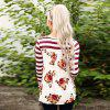 2017 Autumn Stylestriation Printed On The Back Long Sleeve T-Shirt - RED