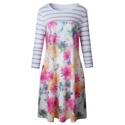 2017 Autumn Style Printing Mid-Length DressWomens Dresses<br>2017 Autumn Style Printing Mid-Length Dress<br><br>Dresses Length: Knee-Length<br>Elasticity: Elastic<br>Fabric Type: Jersey<br>Material: Polyester<br>Neckline: Round Collar<br>Package Contents: 1 ? Dress<br>Pattern Type: Floral<br>Season: Fall<br>Silhouette: A-Line<br>Sleeve Length: 3/4 Length Sleeves<br>Style: Casual<br>Weight: 0.4000kg<br>With Belt: No