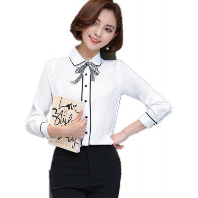 Buy 2017 New Small And Pure And Fresh Shirt, WHITE, L, Apparel, Women's Clothing, Blouses for $15.72 in GearBest store