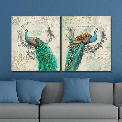 Buy Dyc 10011 2PCS Peacocks Canvas Print ready To Hang Paintings, COLORMIX, Home & Garden, Home Decors, Wall Art, Prints for $51.73 in GearBest store