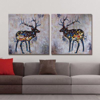 Buy Dyc 10017 2PCS Deers Canvas Print Art Ready To Hang Paintings, COLORMIX, Home & Garden, Home Decors, Wall Art, Prints for $45.67 in GearBest store