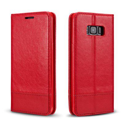 Wkae Luxury Mixed Stitching Style Double Side Magnetic Closure Ultra Slim Premium Leather Case with Kickstand and Card Slots for Samsung Galaxy S8Wkae Luxury Mixed Stitching Style Double Side Magnetic Closure Ultra Slim Premium Leather Case with Kickstand and Card Slots for Samsung Galaxy S8<br><br>Features: Full Body Cases, Cases with Stand, With Credit Card Holder, Anti-knock, Dirt-resistant<br>For: Samsung Mobile Phone<br>Material: TPU, PU Leather<br>Package Contents: 1 x Phone Case<br>Package size (L x W x H): 20.00 x 15.00 x 2.50 cm / 7.87 x 5.91 x 0.98 inches<br>Package weight: 0.1500 kg<br>Product weight: 0.1000 kg<br>Style: Vintage