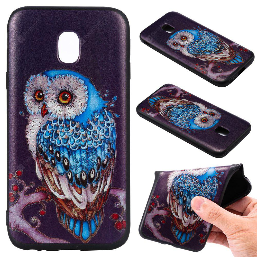 3D Embossed Color Pattern TPU Soft Back Case for Samsung Galaxy J3 2017 (Europe Edition)