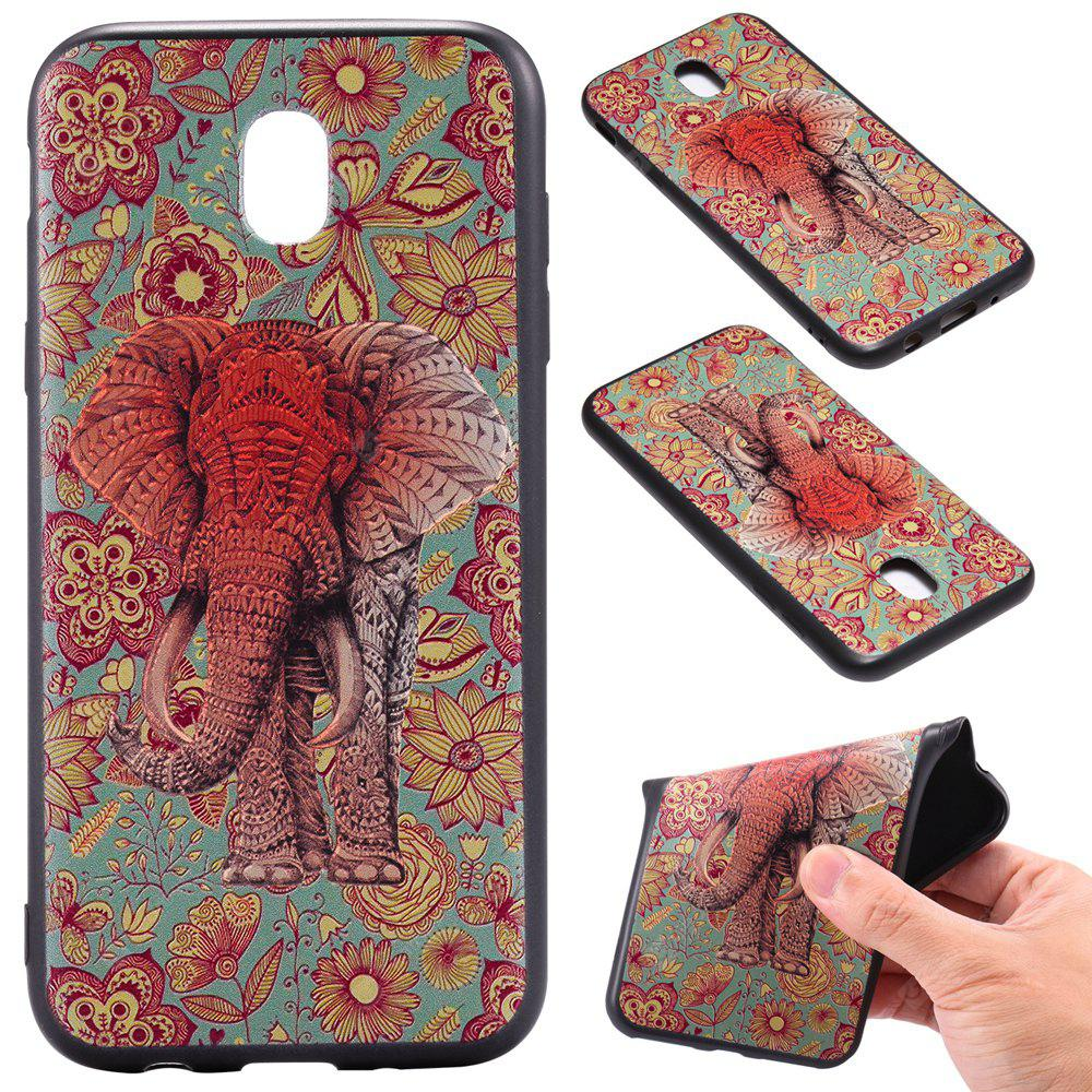 3D Embossed Color Pattern TPU Soft Back Case for Samsung Galaxy J5 2017 (Europe Edition)