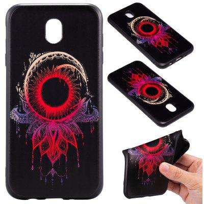 3D Embossed Color Pattern TPU Soft Back Case for Samsung Galaxy J7 2017 (Europe Edition)