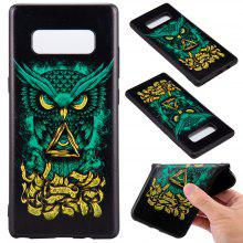 3D Embossed Color Pattern TPU Soft Back Case for Samsung Galaxy Note 8