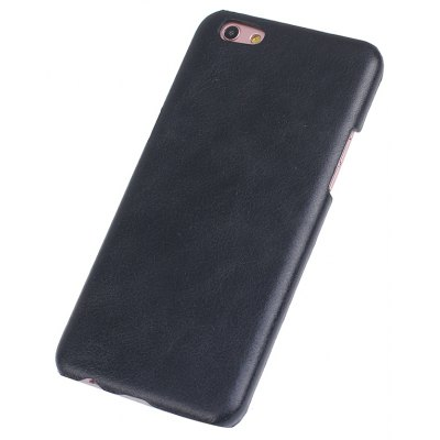Buy BLACK Retro Style Cow Leather Hard Back Case for OPPO R9S for $8.99 in GearBest store