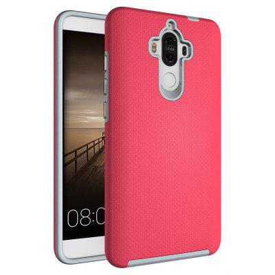Buy RED Non-slip Surface Shockproof Back PC Case for Huawei Ascend Mate 9 for $4.18 in GearBest store
