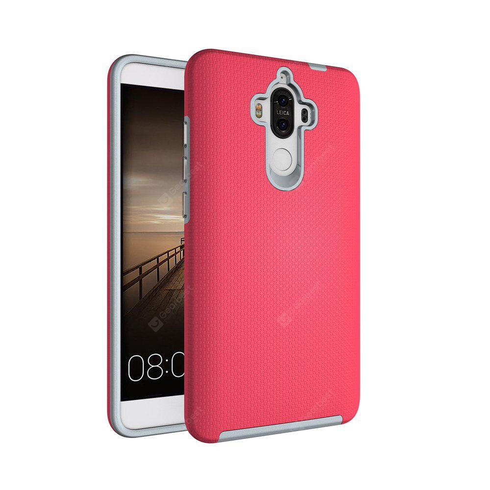 RED Non-slip Surface Shockproof Back PC Case for Huawei Ascend Mate 9