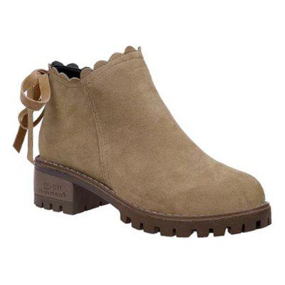 Buy BROWN 39 Thick High-Heeled Boots Boots Boots Martin British Style All-Match Frosted Single Boots for $60.00 in GearBest store