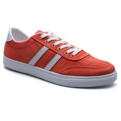 Casual Color Block Men's Canvas Shoes
