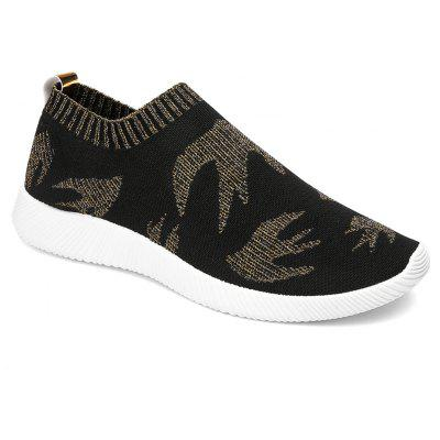 Bird Pattern Knited Color Block Casual Shoes