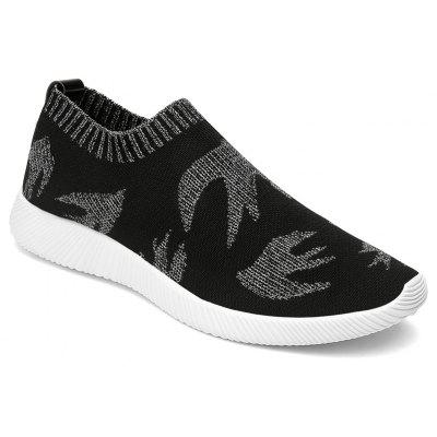 Men Casual Mesh Shoes Breathable Hard-Wearing Flat Shoes
