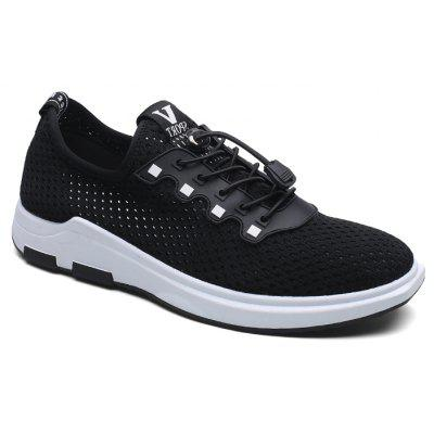 Mesh Solid Color Lace-Up Breathable Casual Shoes