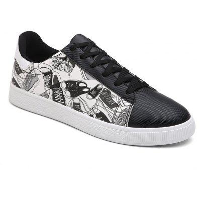 Shoes Pattern Printed Color Block Casual Shoes