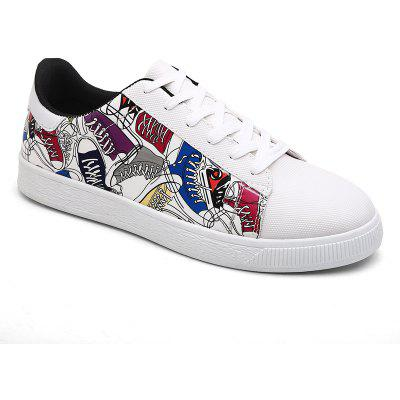 Men New Fashion Casual Shoes Flat Outdoor Lace-Up