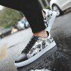 Shoes Pattern Printed Color Block Casual Shoes - GRAY
