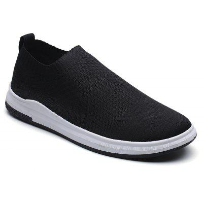 Solid Color Knited Slip-On Casual Shoes