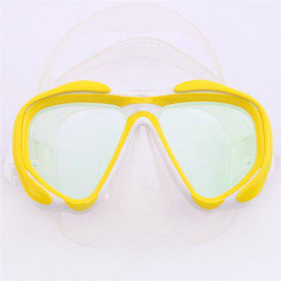 Whale Professional Anti-Fog Color Mirror Silicone Snorkeling Diving Mask Mm-2600