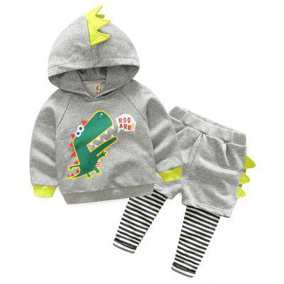 Buy OYSTER 130 The Fall of 2017 New Children Suit Fashion Baby Sweater Trousers Cartoon Dinosaur Mens False Two Chaps Surge 8145 for $30.91 in GearBest store