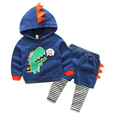 Buy BLUEBELL 90 The Fall of 2017 New Children Suit Fashion Baby Sweater Trousers Cartoon Dinosaur Mens False Two Chaps Surge 8145 for $30.91 in GearBest store