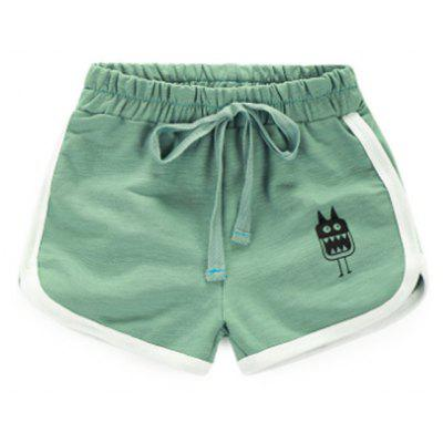 Buy LIGHT GREEN 90 The Boy Shorts In Summer 2017 New Korean Baby Cotton Pants Thin Loose Beach Pants Shorts children for $19.10 in GearBest store