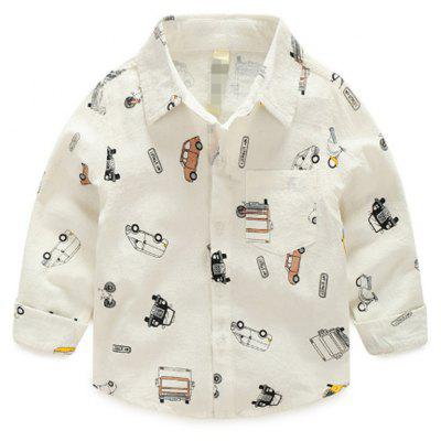 Buy SNOW WHITE 120 Childrens Cotton Shirts 2017 Boys And Girls Printed Shirts Lapel Shirts New Childrens Wear for $23.37 in GearBest store