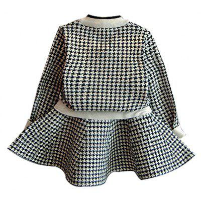 Houndstooth Long Sleeved Sweater Cardigan and Flare Skirt SetGirls Clothing<br>Houndstooth Long Sleeved Sweater Cardigan and Flare Skirt Set<br><br>Dresses Length: Mini<br>Elasticity: Elastic<br>Material: Cotton<br>Neckline: Square Collar<br>Package Contents: 1xCardigan 1xSkirt<br>Pattern Type: Plaid<br>Season: Fall<br>Silhouette: Straight<br>Sleeve Length: Long Sleeves<br>Style: Cute<br>Weight: 0.5000kg<br>With Belt: No