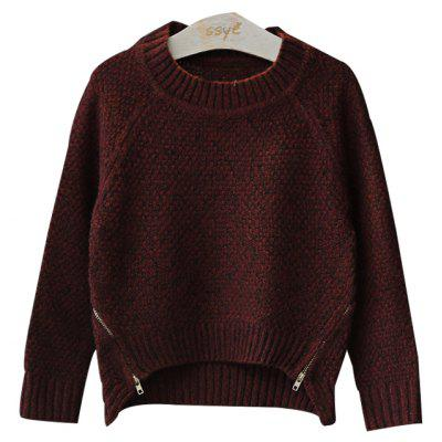 Korean Children Fall 2017 New Girls Pure Knitted Sweater Sweater Fashion Trend All-Match Children Tide