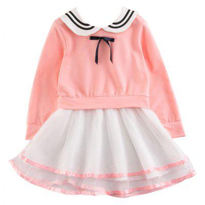 2017 Children Clothing Girls Dress Skirt Korean Version of The New Long Sleeved Cotton Childrens Princess Dress