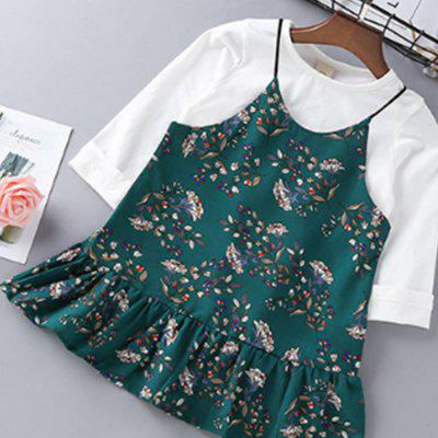 Long Sleeved Solid Color T-Shirt and Foral DressGirls Clothing<br>Long Sleeved Solid Color T-Shirt and Foral Dress<br><br>Dresses Length: Mini<br>Elasticity: Elastic<br>Embellishment: Pattern<br>Material: Cotton<br>Neckline: Round Collar<br>Package Contents: 1xT-shirt 1xDress<br>Pattern Type: Floral<br>Season: Spring, Fall<br>Silhouette: Straight<br>Sleeve Length: Long Sleeves<br>Sleeve Type: Spaghetti Strap<br>Style: Brief<br>Waist: Natural<br>Weight: 0.5000kg<br>With Belt: No