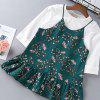 Long Sleeved Solid Color T-Shirt and Foral Dress - FERN