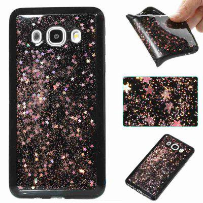 Black Five-Pointed Star Painted Dijiao Tpu Phone Case for Samsung Galaxy J510 / J5 2016