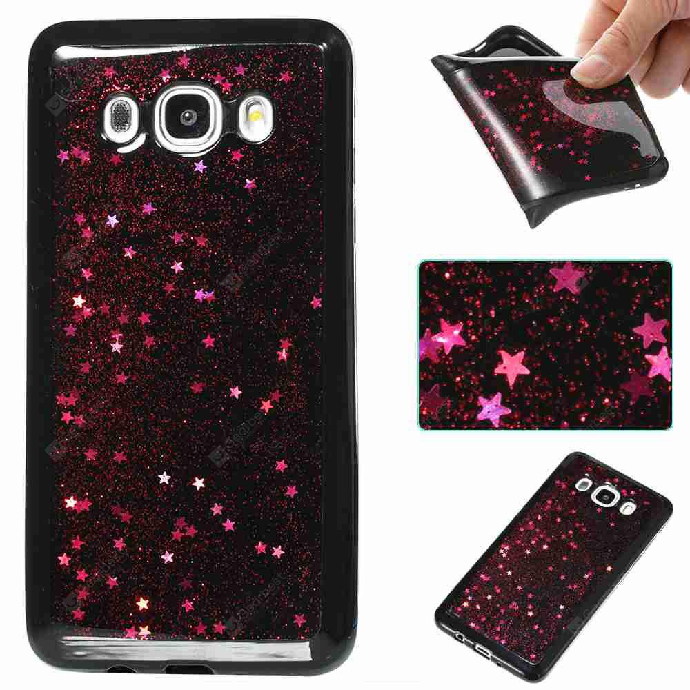 Black Five-Pointed Star Painted Tpu Phone Case for Samsung Galaxy J510 / J5 2016