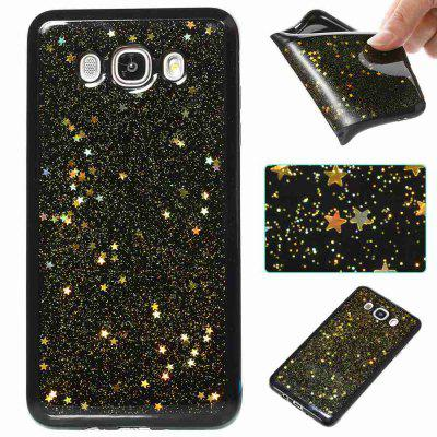 Black Five-Pointed Star Painted Tpu Phone Case for Samsung Galaxy J710 /J7 2016