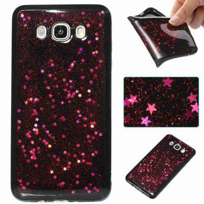 Black Five-Pointed Star Painted Dijiao Tpu Phone Case for Samsung Galaxy J710 /J7 2016