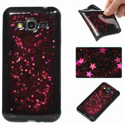 Black Five-Pointed Star Painted Dijiao Tpu Phone Case for Samsung Galaxy J3 / J310