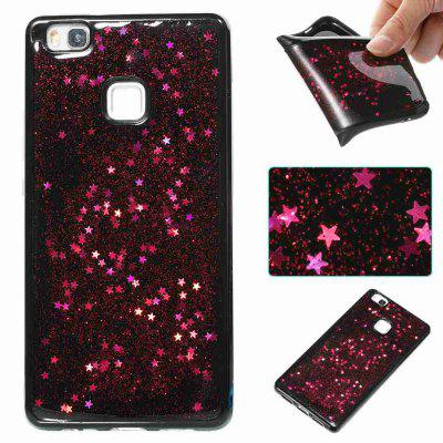 Buy ROSE MADDER Black Five-Pointed Star Painted Dijiao Tpu Phone Case for Huawei P9 Lite for $4.43 in GearBest store