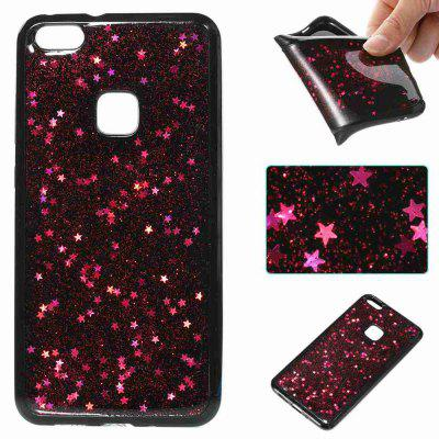 Buy ROSE MADDER Black Five-Pointed Star Painted Dijiao Tpu Phone Case for Huawei P10 Lite for $4.43 in GearBest store