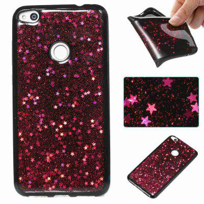 Buy ROSE MADDER Black Five-Pointed Star Painted Dijiao Tpu Phone Case for Huawei P8 Lite 2017 for $4.43 in GearBest store