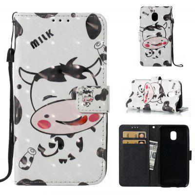 3D Painted Pu Phone Case for Samsung Galaxy J330