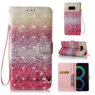 Buy GOLD AND PINK 3D Painted Pu Phone Case for Samsung Galaxy S8 Plus for $5.56 in GearBest store